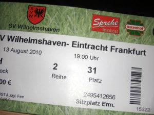 Wilhelmshaven - Eintracht Frankfurt: 1. Pokalrunde 2010
