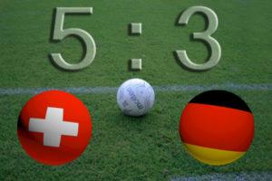 Schweiz gegen Deutschland 5:3