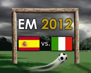Spanien gegen Italien 4:0
