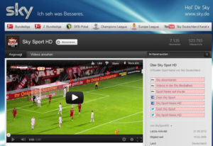 Kostenloser Sky Sport HD YouTube Channel
