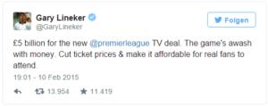 Twitter Tweet zum TV Deal