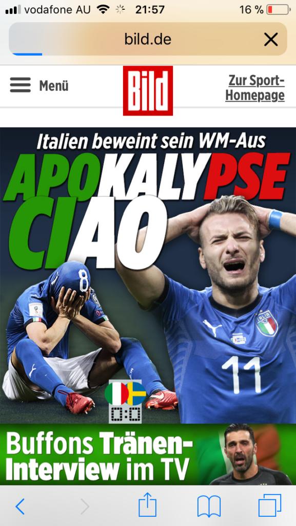 wm aus italien